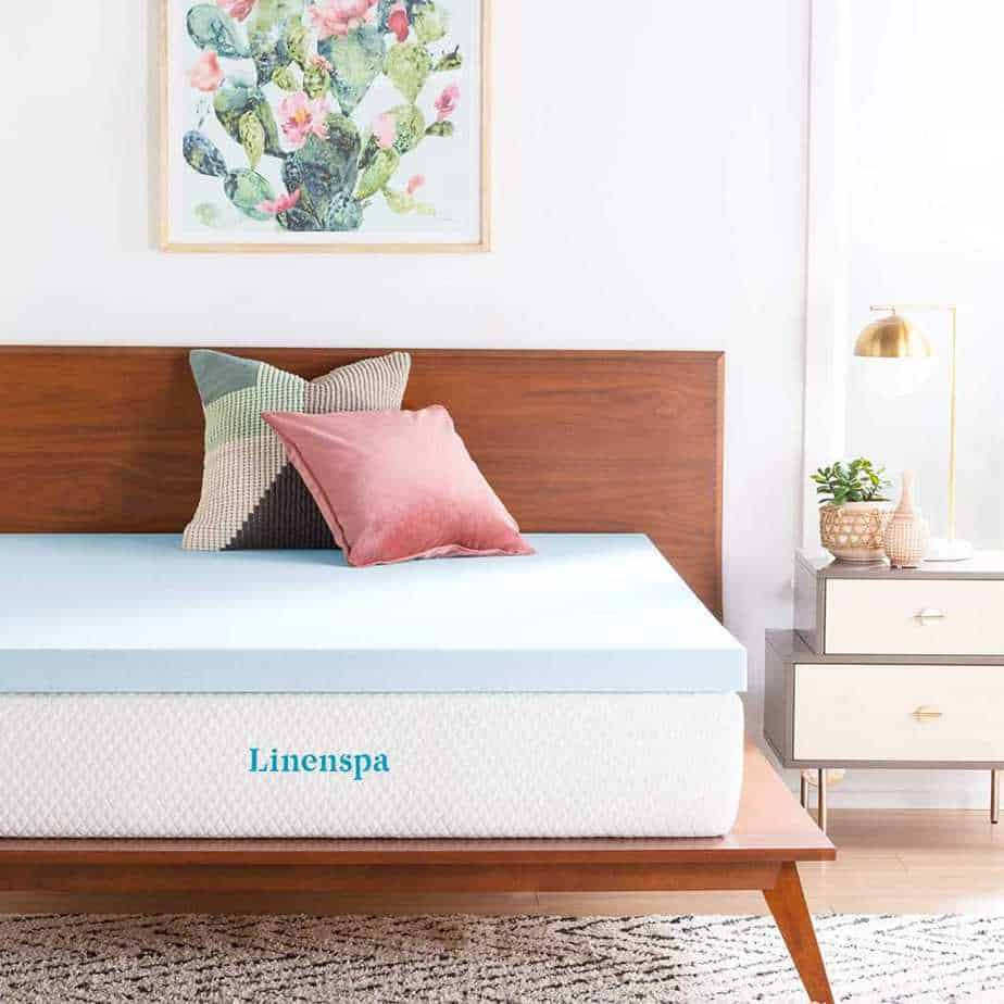 Linespa Infused Memory Mattress Topper